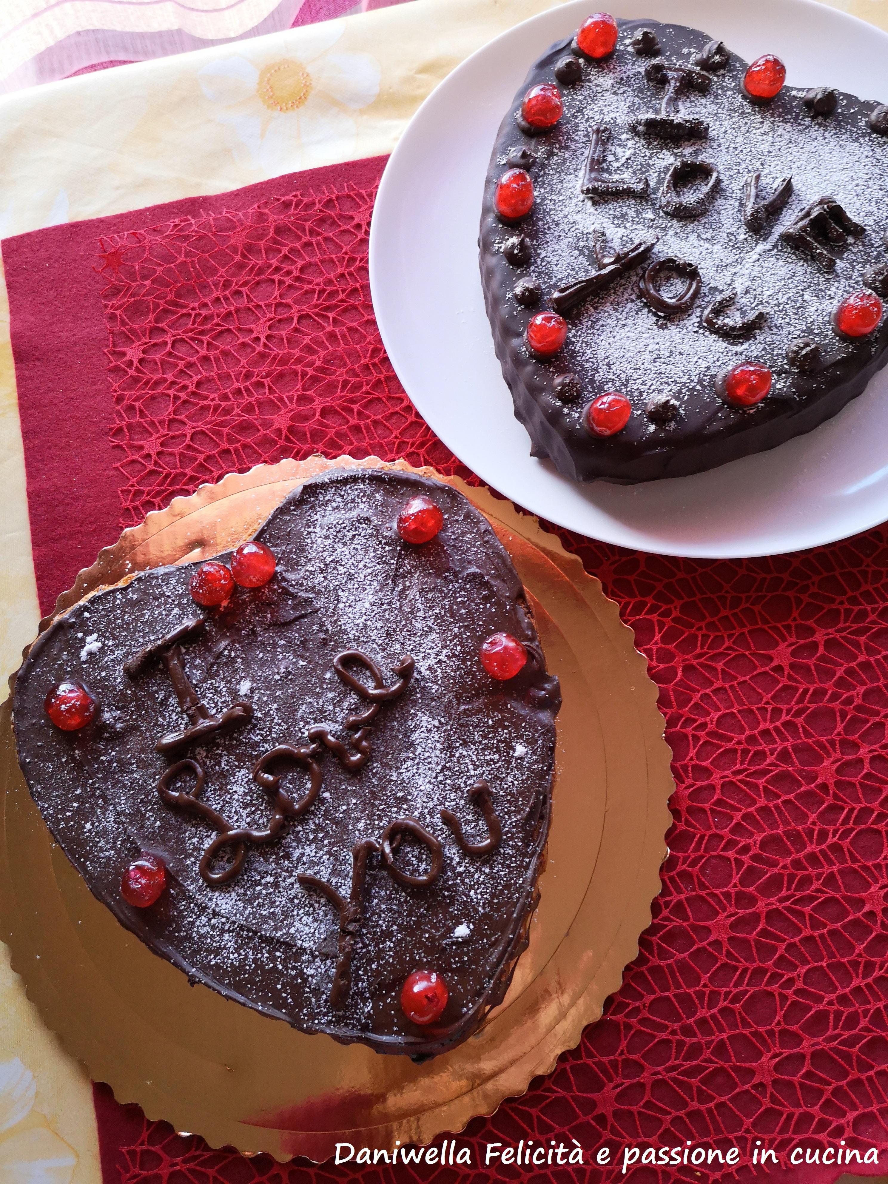 Ed ecco le mie torte a cuore per San Valentino.