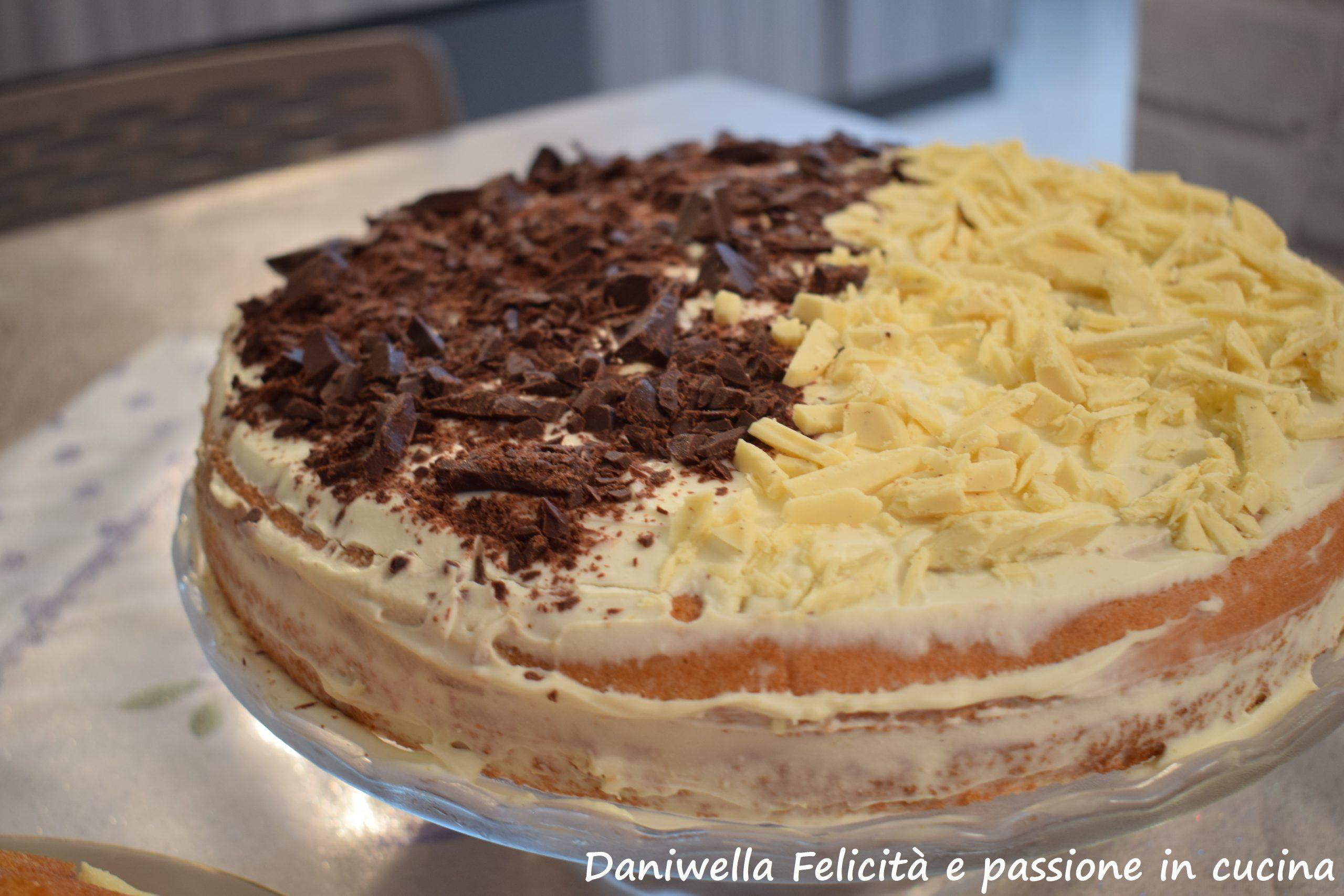 Questa è la Torta Cappuccino fatta per il compleanno di Maria